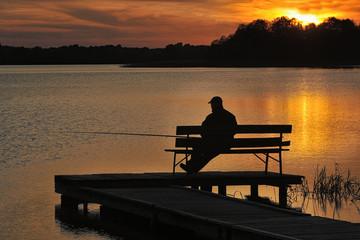 Angler am See in Masuren | Polen