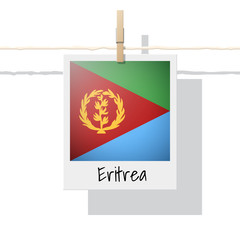 African country flag collection with photo of Eritrea flag , vector , illustration