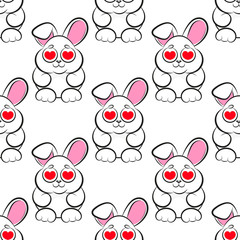 seamless little bunny