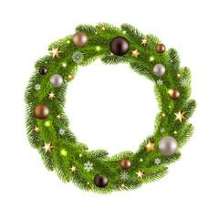 Christmas Wreath With Ball