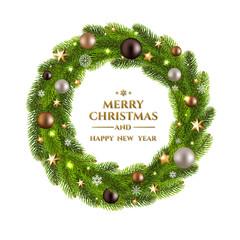 Christmas Wreath Fur Tree