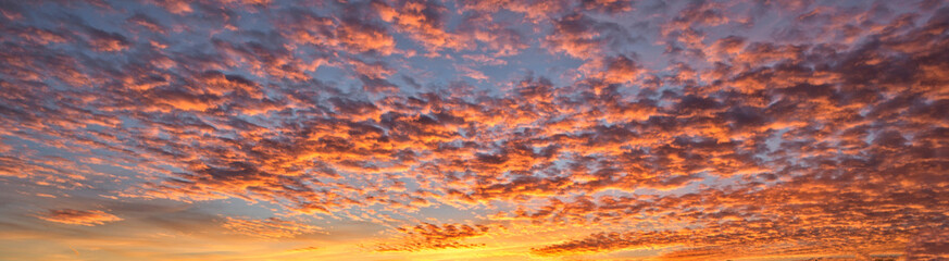 A background with red clouds at sunset