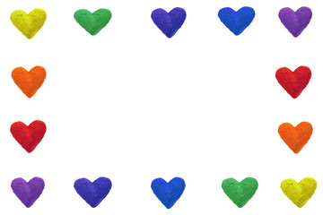 rainbow color hearts