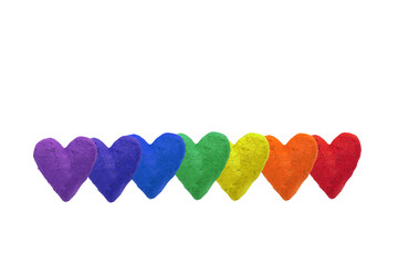 rainbow color hearts