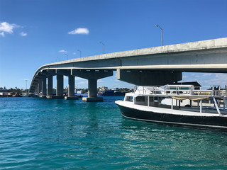 On the water in Nassau, Bahamas in the Caribbean