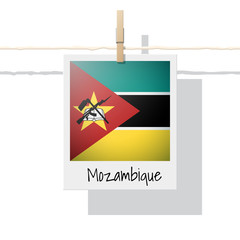 African country flag collection with photo of Mozambique flag , vector , illustration