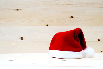 Santa Hat on table wood