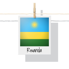 African country flag collection with photo of Rwanda flag , vector , illustration