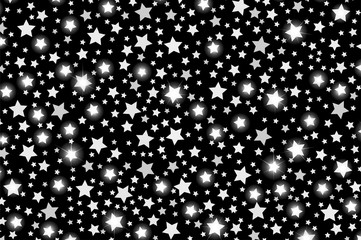 Abstract silver starfall effect pattern isolated on transparent background. Vector illustration