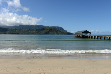 Hanalei Bay - View of Hanalei Bay at the north shore of Kauai, Hawaii, USA.