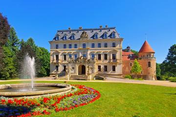 Altdoebern Schloss - Altdoebern palace in Brandenburg in summer