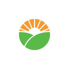 Farm logo or alternative green energy logo