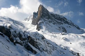Bergspitze bei Hintertux im Stil von Caspar David Friedrich.Where: Hintertux, Österreich.When: 31.03.2007.