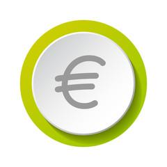 Euro symbol - icon. Vector.