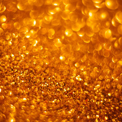 golden glitter bokeh background