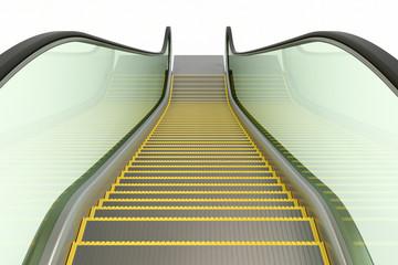 Escalator isiolated on white