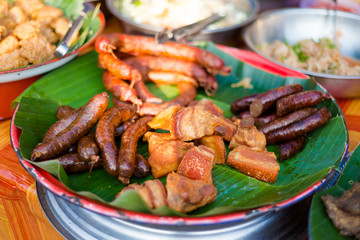 Smoky lao meat barbecue selection