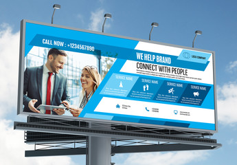 Business Banner Layout with Blue Accents