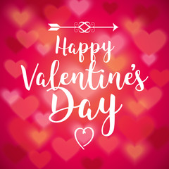 Happy Valentines Day Soft Hearts Vector Illustration 1