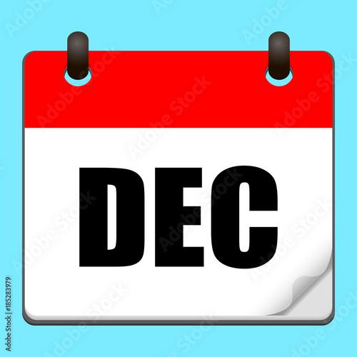 Calendar Illustration Search : Quot december calendar icon vector illustration stock image