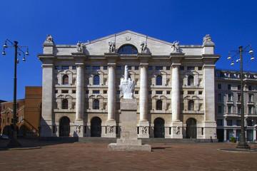Milano Piazza Affari Borsa Italiana Lombardia Italia Europa Milan Affari Square Stock Market Lombardy Italy Europe