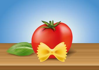 pâtes - tomate - basilic - Italie - pâte - italienne - plat de pâtes - italien - restaurant - farfalles