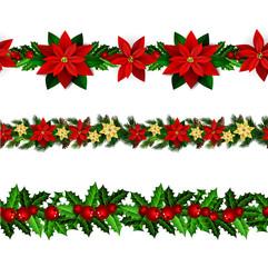 Set of n Seamless Christmas borders