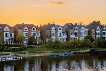 Houses along the River Thames