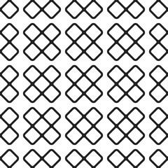 Black crosses on white background seamless pattern