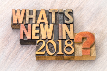What is new in 2018 word abstract in wood type
