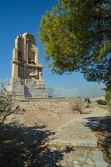 Fototapete - filopapou monument near to Acropolis Athens Greece colors