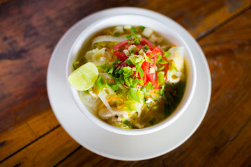 Lao hot sour vegetable soup