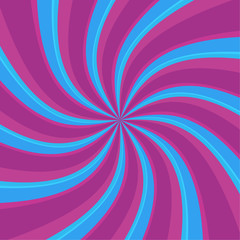Poster de jardin Psychedelique Swirl radial pattern backgrounds. Colorful, bright twirl rays. Vibrant beams. vector