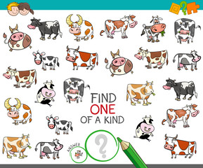 find one of a kind with cow characters