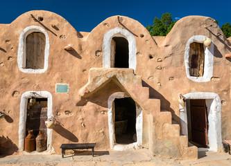 Ksar Hadada in in southeastern Tunisia. Star Wars were filmed here.