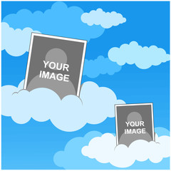cloud photo template