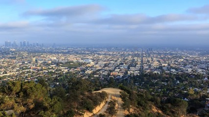 Fotobehang - Los Angeles city scape day to night timelapse