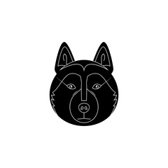 Alaskan Malamute face icon. Popular Breed of dogs element icon. Premium quality graphic design icon. Dog Signs and symbols collection icon for websites, web design, mobile app