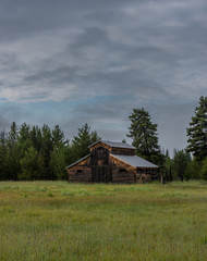 Clouds Over Old Barn in Kawuneeche Valley