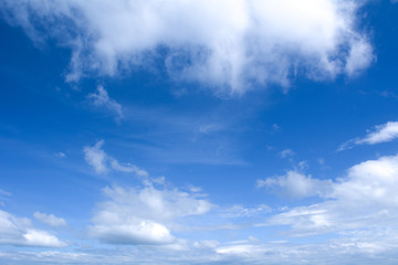 Summer sky and beautiful blue sky with clouds