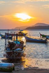 scenic beauty sunshine above Rawai sea.