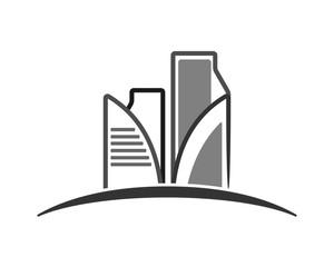 gray building cityscape skyscraper construction architecture image icon logo