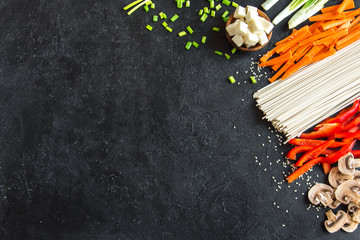 ingredients for asian stir fry