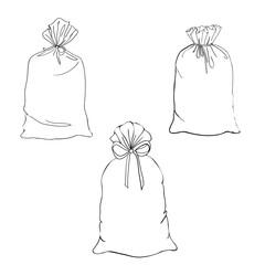 Hand drawn cartoon style shopping bags design