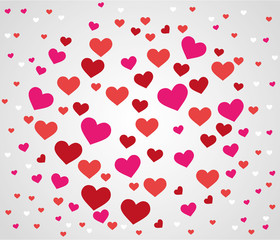 love heart shape pink blossom valentine background