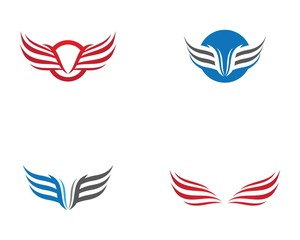 Wing Logo Template vector icon  illustration design