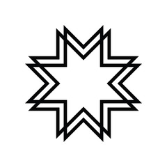 Islamic Art. Eight-pointed star