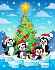 Christmas tree and penguins image 2