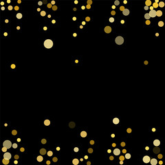 Golden confetti on a black background.