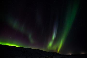 Polarlicht (Aurora borealis) - über dem winterlichen Island